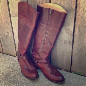Vintage red Frye boots broken ankle detail 7.5/8